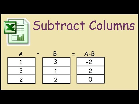 How to subtract one column from another in Excel