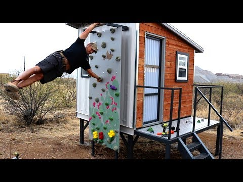 Shipping Container Playhouse - Climbing wall and More!