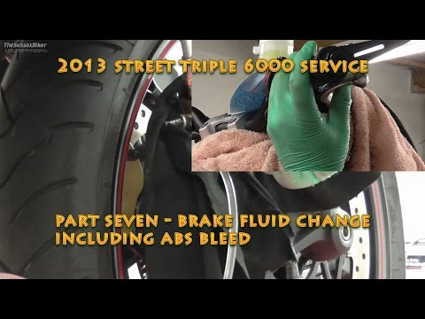 2013 Street Triple R 6000 Service - Part Seven - Brake Fluid Change (Incl ABS)