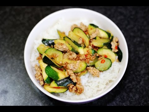 Asian Recipes - Spicy Stir Fried Zucchini - How to make Spicy Stir Fried Zucchini Recipe