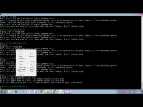 Unix shell scripting grep command part 1