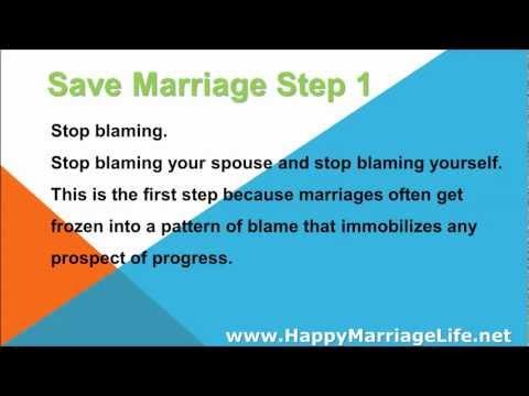 Save Marriage Step 1 - Stop Blaming