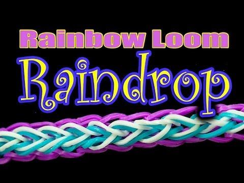 How to make a Raindrop Rainbow Loom bracelet HD