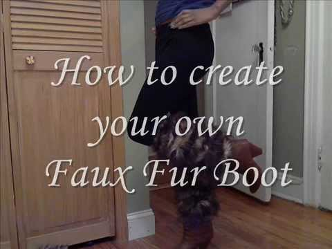 How to create your own faux fur boot