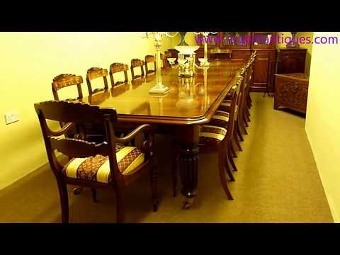 03096 Vintage Victorian Mahogany Long Dining Table