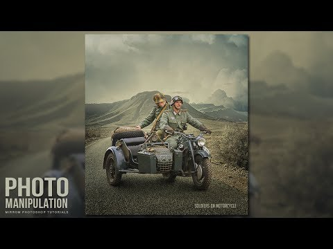 Create This Soldiers on Motorcycle Photo Manipulation Concept In Photoshop