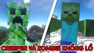 TrẬn ChiẾn Zombie VÀ Creeper KhỔng LỒ!! (giáo Sư Teakill)