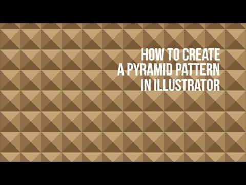 Illustrator Tutorial : How to create a pyramid pattern in Adobe Illustrator