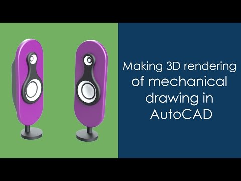 Making 3D rendering of mechanical drawing in AutoCAD