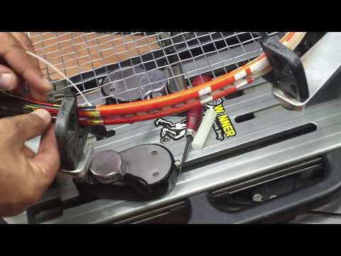 stringing tennis racket (no loss tension with the kont)