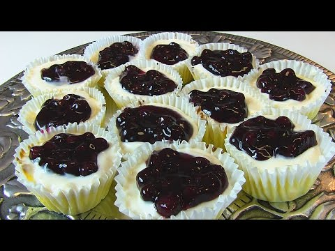 Betty's Blueberry-Topped Cream Cheese Cupcakes  --  Super Bowl Dessert!