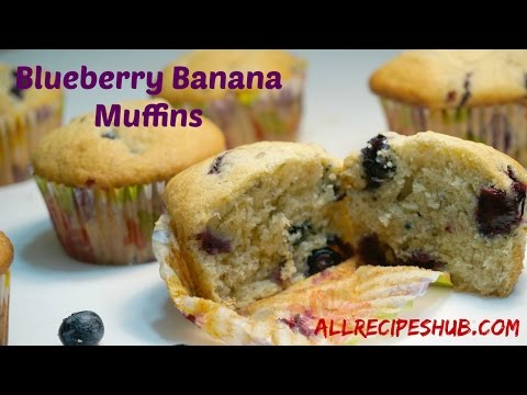 Blueberry Banana muffins | How to make blueberry muffins
