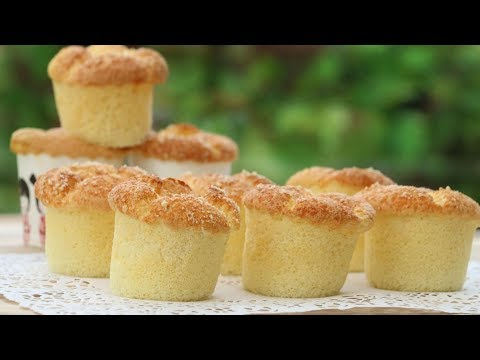 How To Make Fluffy Cupcakes | Cotton Soft Cheese Sponge Cake Recipe