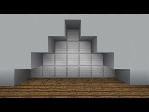 Minecraft PE Tiny & Super Fast Triangle Piston door (PE/Xbox/Windows10/Switch)