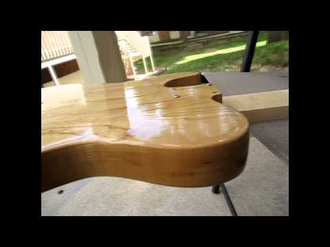 How to Build a Telecaster Vlog pt 8 - Tru-Oil Finishing Process