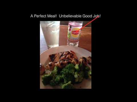 Restaurant Salmon, Broccoli and Mushrooms
