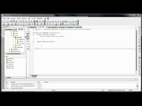 CodeIgniter Tutorials: Basic Website - Multiple Page Loading & Styling (Part 2/8)