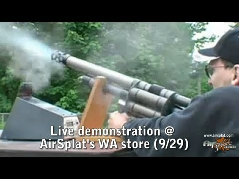 NEW Airsoft Grenade Launcher LIVE Demo at AirSplat Seattle Store!
