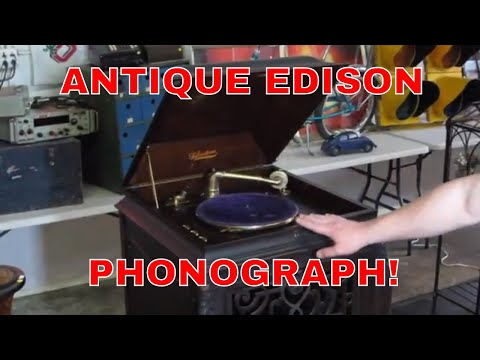 Look What I Found Online Auction Preview-Antique Edison Phonograph!