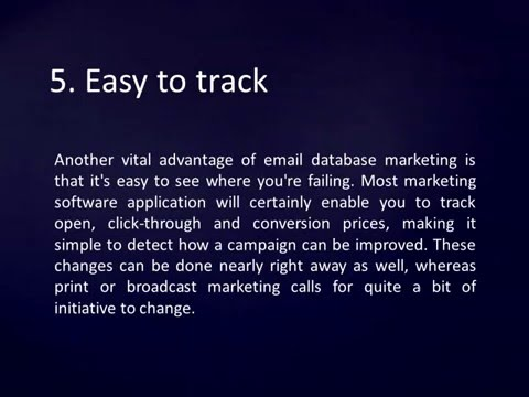 Email Database Marketing Explaineer Video