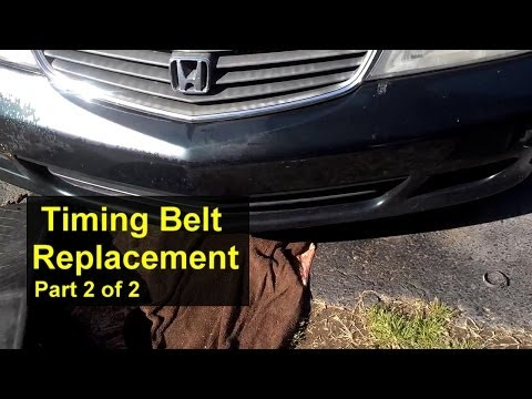 Honda Odyssey timing belt replacement, installation. Part 2 of 2 - VOTD