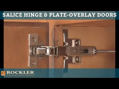 Rockler's Salice Hinge and Plate for Overlay Doors