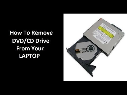 how to remove optical drive from laptop (DVD/ CD Drive)