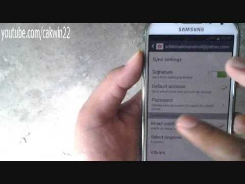 Samsung Galaxy S4: How to change email password (Android Kitkat)