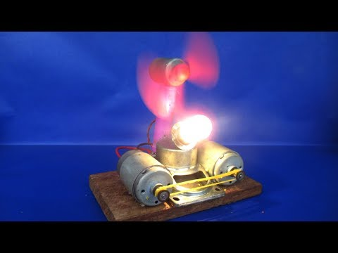 Free energy light LED experiments generator magnets with motor - Simple projects DIY at home