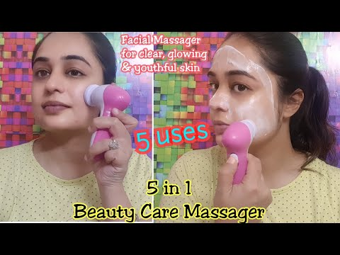 HOW TO USE FACIAL MASSAGER / 5 IN 1 BEAUTY MASSAGER/ REVIEW & DEMO/ FACIAL MASSAGE FOR CLEAR SKIN