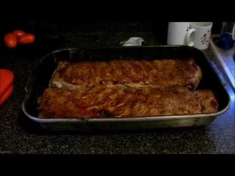 Seasoned St Louis Ribs baked in the Oven