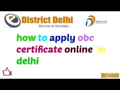 how to apply obc certificate in delhi