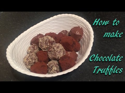 Bailey's Irish cream and coffee liquor chocolate truffles recipe and tutorial