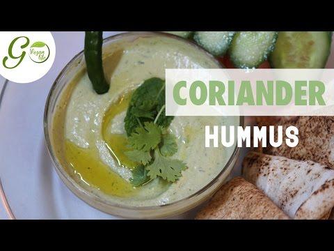 Vegan Recipe l Coriander Hummus l Go Vegan Life