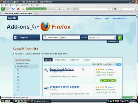 How to make Firefox Open Your Searches Open In New Tab