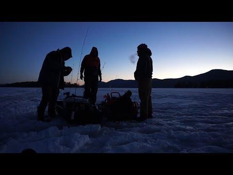 Adirondack Ice Fishing Adventure for Lake Trout. Big Pike!