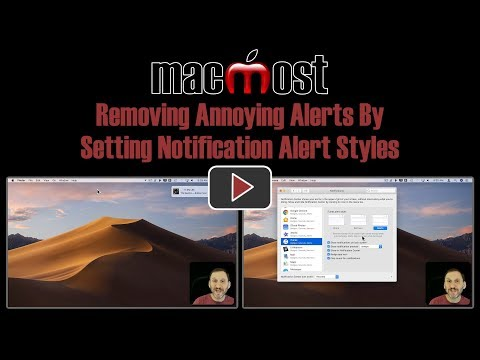 Removing Annoying Alerts By Setting Notification Alert Styles (MacMost #1831)