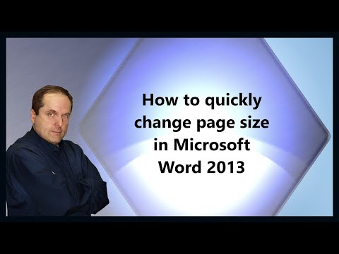 How to quickly change page size in Microsoft Word 2013