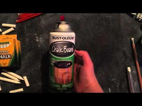 Chalkboard surfaces & how to season your chalkboard