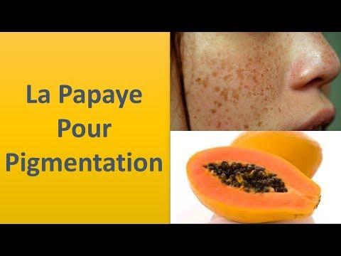 La pigmentation de la papaye