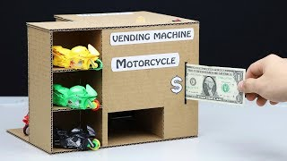 How to Make Vending Machine with Toy Motorcycle