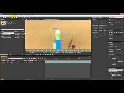 After Effects Motion Tracking Tutorial (Really Simple)