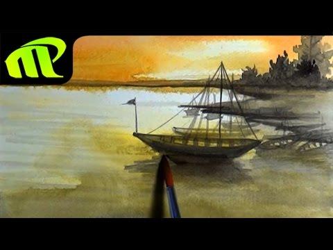 Watercolor Painting - Simple Scenery