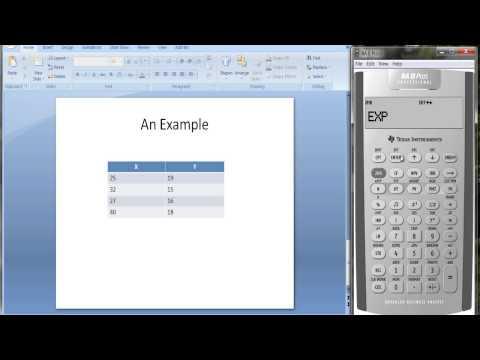 Statistics Worksheet on TI BA II Plus Calculator