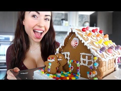 GINGERBREAD HOUSE MAKING!!