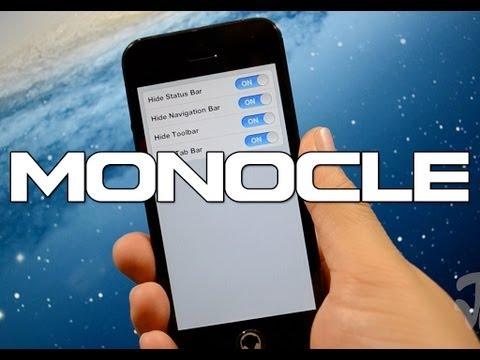 Monocle | Cydia Tweak: Turn Apps to Fullscreen - @rpetrich