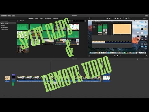 Imovie tips Split Clips and Remove Video