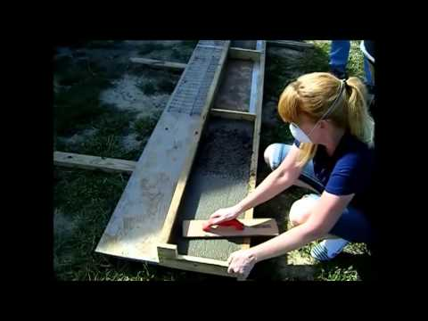 Homestead Series: How to Make Cap Stones for Garden Wall