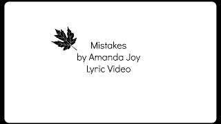 Mistakes by Amanda Joy Lyrics