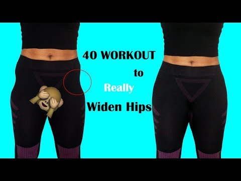40 WIDER HIPS WORKOUT THAT REALLY will FIX YOUR HIP DIPS|how to get bigger hips| Abigail Ekweghi